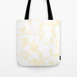 Large Spots - White and Cornsilk Yellow Tote Bag