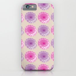 Pink and purple gerbers pattern iPhone Case
