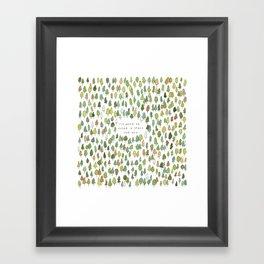 A Tree Falls Framed Art Print