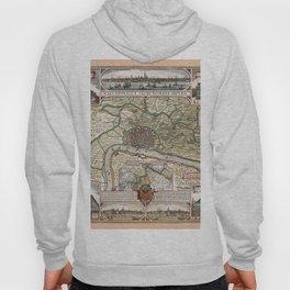 Map Of Antwerp 1624 Hoody