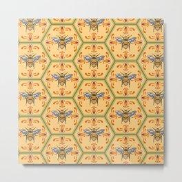 Manuka Bee honey pattern Metal Print