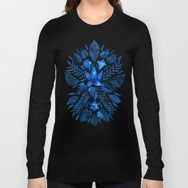 Tropical Symmetry – Navy Long Sleeve T-shirt