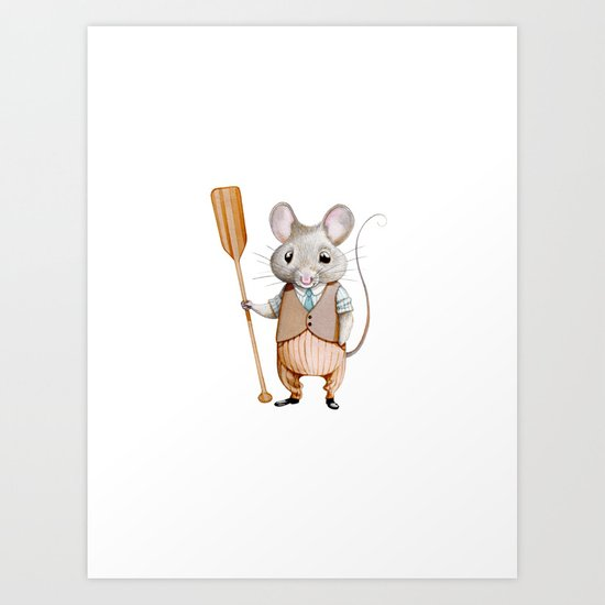 Ratty Art Print