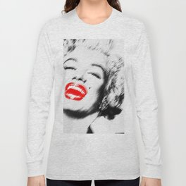 Marilyn Lipstick Long Sleeve T-shirt