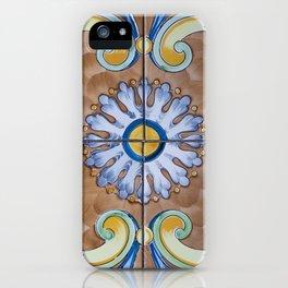 Vintage Italian Majolica Single Tile Group iPhone Case