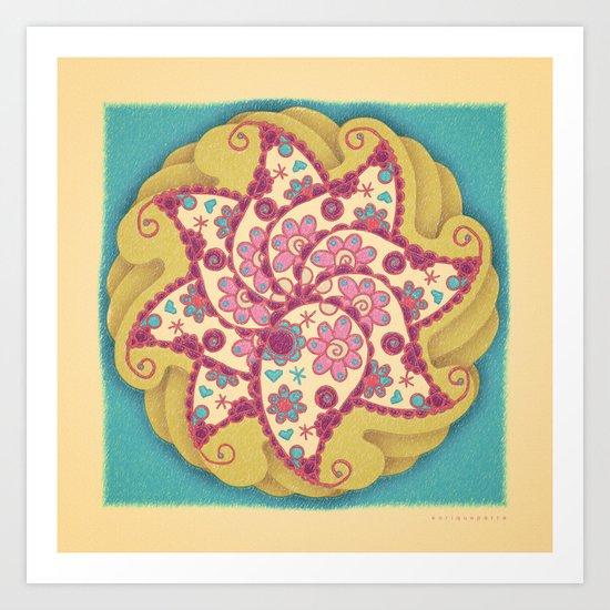 Mandala Amebas Art Print