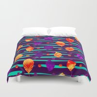 psychadelic Duvet Covers featuring Psychadelic Natural Pattern #3 by Andrej Balaz