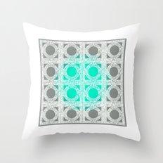 Cement Block Circles 2 Throw Pillow