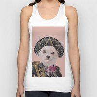 mexican Tank Tops featuring Mexican Chihuahua by Rachel Waterman