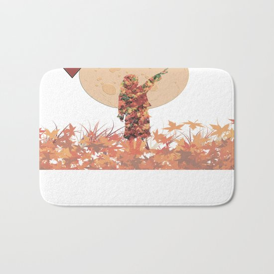 Flower girl and the moon Bath Mat