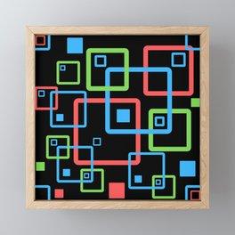 multicolor geometric squares Framed Mini Art Print