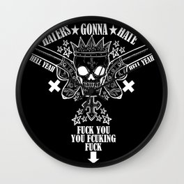 Haters Gonna Hate (Dark) Wall Clock
