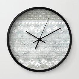 Concrete Aztec Wall Clock