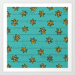 zuhur turquoise Art Print