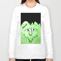 frankenstein Long Sleeve T-shirts featuring Frankenstein by HollyJonesEcu