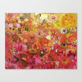 Pink Coral Yellow 2015 Canvas Print
