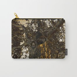 Little Owl In Gold Carry-All Pouch