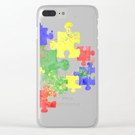 Autism Pieces Clear iPhone Case