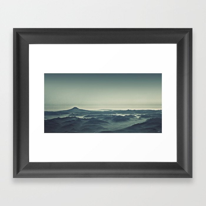 Emerald Waves Framed Art Print