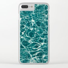 Aqua Underwater Wavy Rippling Water Clear iPhone Case