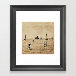 Ships at Sea Framed Art Print