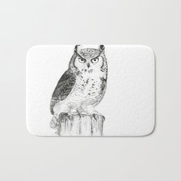 My great horned owl: Nuit Bath Mat