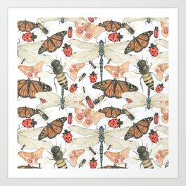 Scattered Bugs Art Print