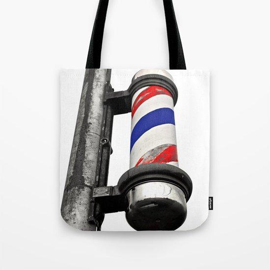 Haircuts here Tote Bag
