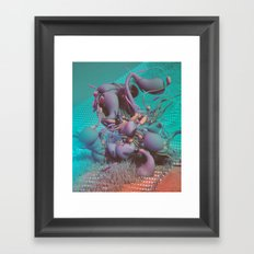 STRAIGHT MESS (everyday 06.30.16) Framed Art Print