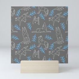 Siberian Husky Pattern Mini Art Print