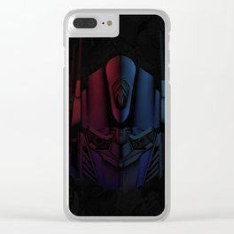 Optimus Prime Line Art by Kaydesign Clear iPhone Case