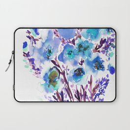 Bouquet Blue Laptop Sleeve