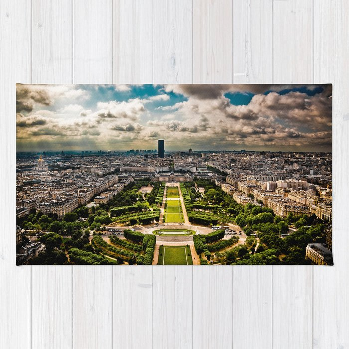 Paris from the Eiffel Tower Rug