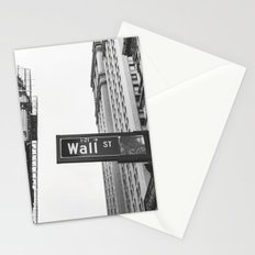 Wall street bw Stationery Cards