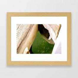 Piping Framed Art Print