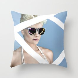 Reckess Blue Throw Pillow