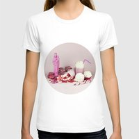macaroon T-shirts featuring Sweet pink doom - still life by josemanuelerre