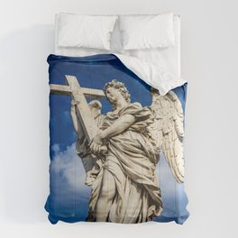 Angel with the cross on the Ponte Sant'Angelo over the Tiber Comforters