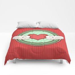 Flying heart Comforters