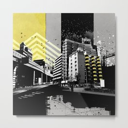 CMYK Triptych - Yellow Metal Print