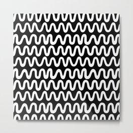 Bold B&W Waves Metal Print
