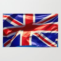 england Area & Throw Rugs featuring England Flag by Fine2art