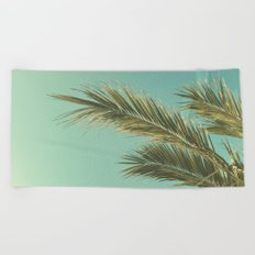 Autumn Palms II Beach Towel