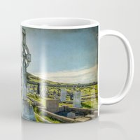 celtic Mugs featuring Celtic Cross by Adrian Evans