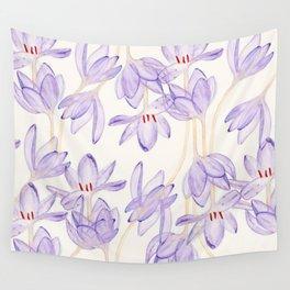 Purple Flower Wall Tapestry