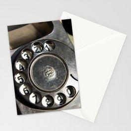 Retro rotary dial telephone Stationery Cards