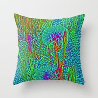 plants Throw Pillows featuring Plants by Anne Millbrooke