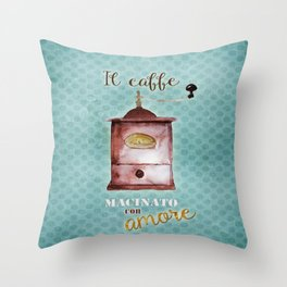 Coffee Ground with Love Throw Pillow