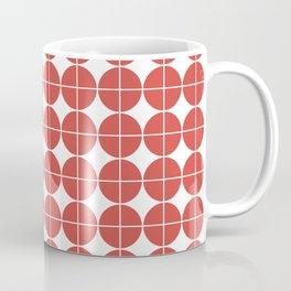 Red circle pattern Coffee Mug