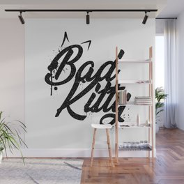 Grunge lettering Bad Kitty Wall Mural